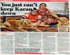 Can't keep Karan down